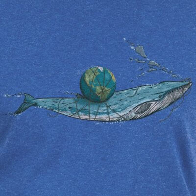 Robert Richter Save the Planet Whale dark heather indigo