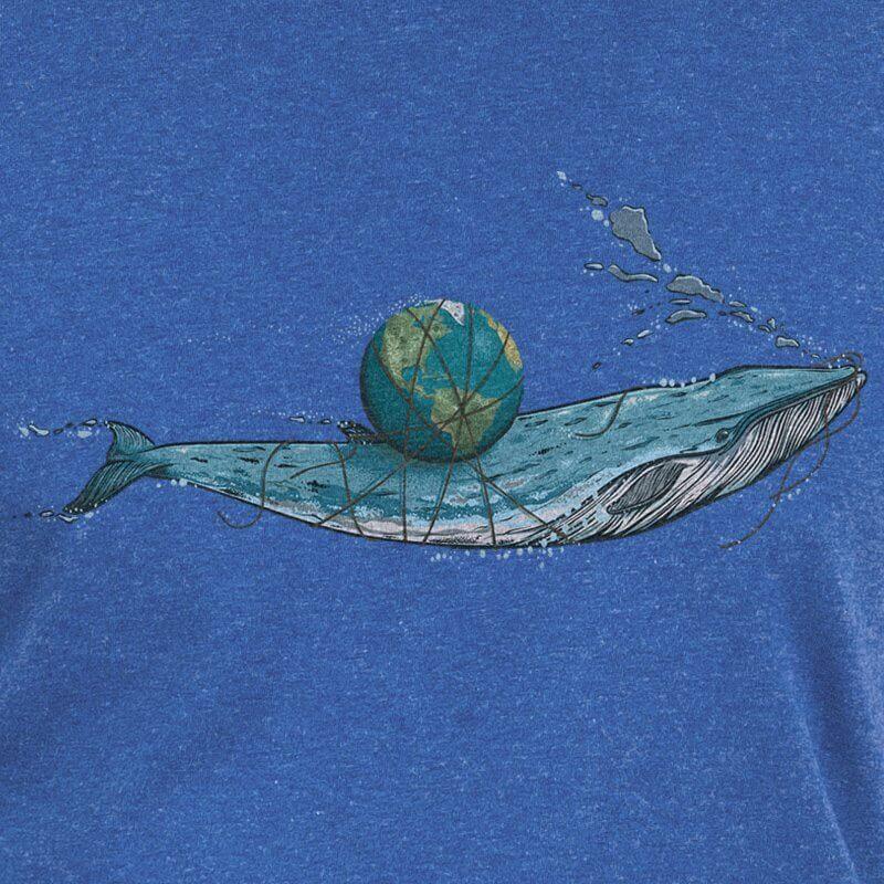 Robert Richter Save the Planet Whale dark heather indigo