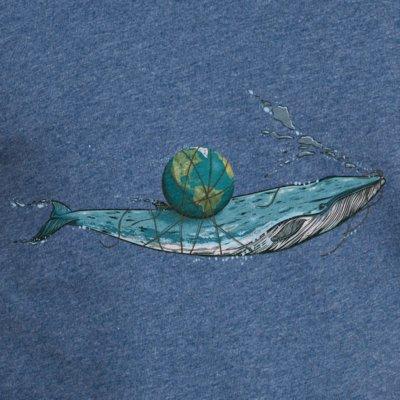 Robert Richter Save the Planet Whale dark heather blue