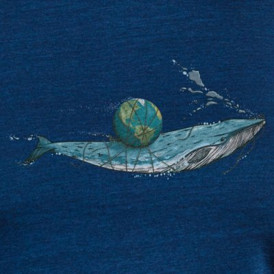 Robert Richter Save the Planet Whale dark washed indigo