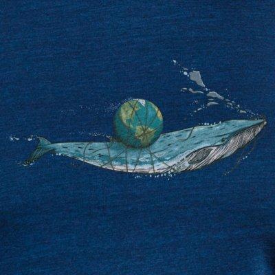 Robert Richter Save the Planet Whale dark washed indigo