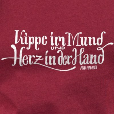 Lukas Adolphi Kippe im Mund - burgundy