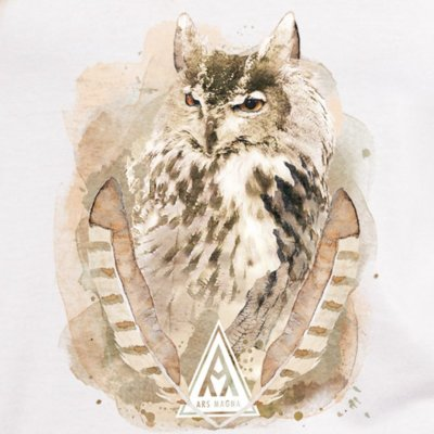 Ars Magna Ancient Owl on white