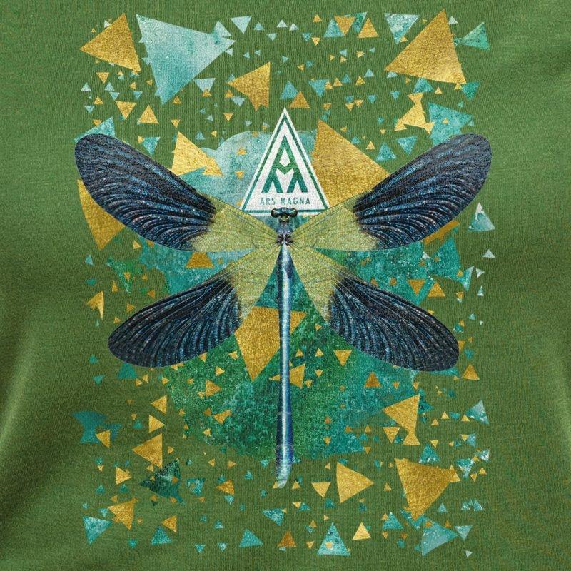 Ars Magna Emerald Dragonfly leaf green