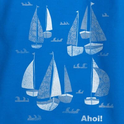 Keregan Schiff Ahoi - bright blue