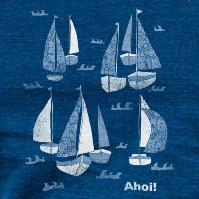 Keregan Schiff Ahoi mid washed indigo