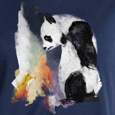 Panda & Fox by Michaela Wollschläger