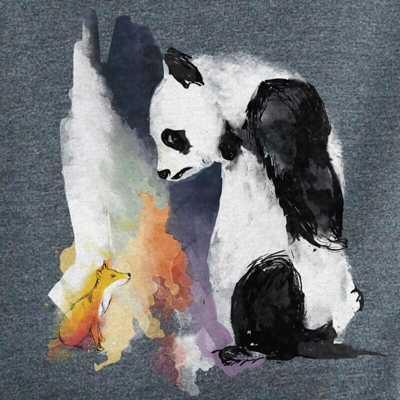 Life in Vanilla - Panda & Fox - melange black