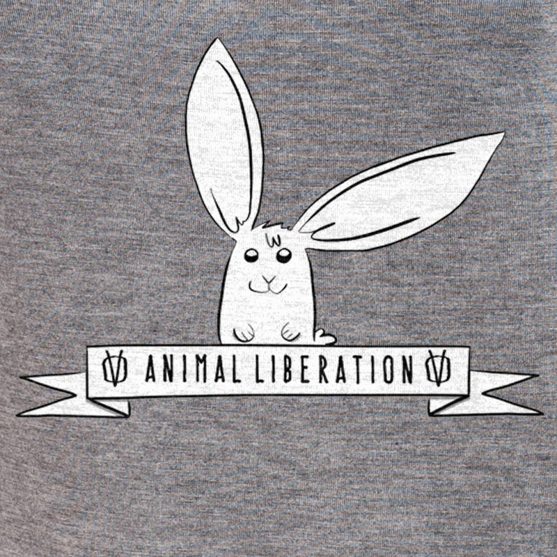 Rabbit Revolution Animal Liberation - mid heather grey