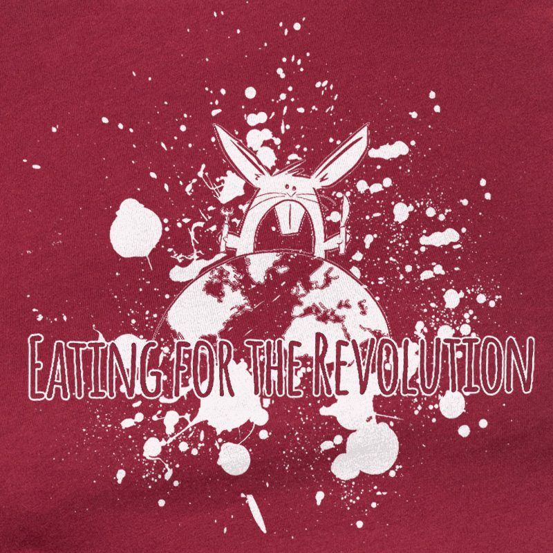 Rabbit Revolution Eating for the Revolution - burgundy
