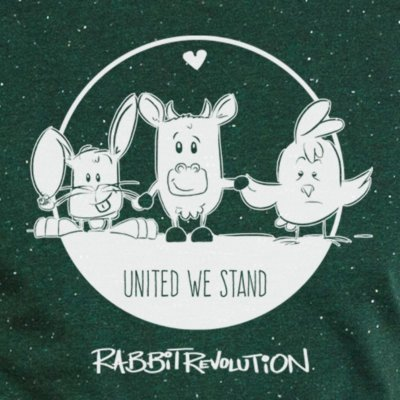 Rabbit Revolution United We Stand - heather scarab green