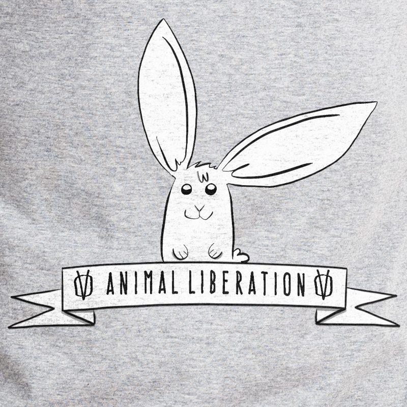 Rabbit Revolution Animal Liberation - heather grey