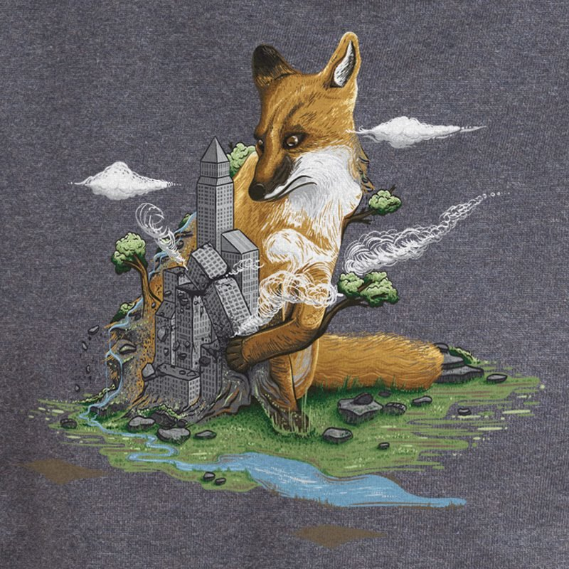 Clean the World Fox designed by Robert Richter