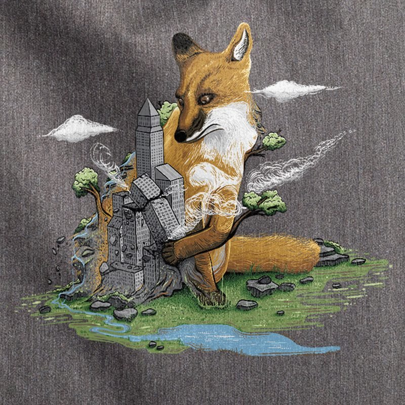 Robert Richter Clean the World Fox melange dark heather