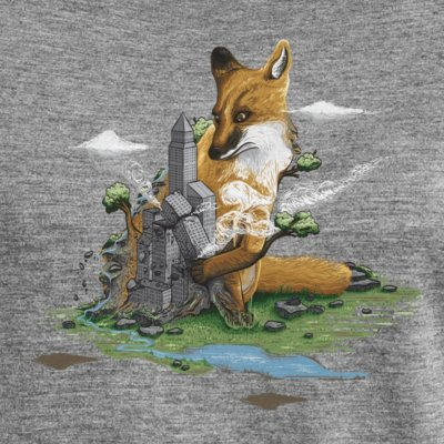 Robert Richter Clean the World Fox mid heather grey