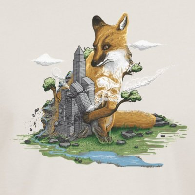 Robert Richter Clean the World Fox vintage white