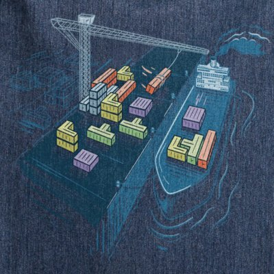 Robert Richter Game Port melange navy