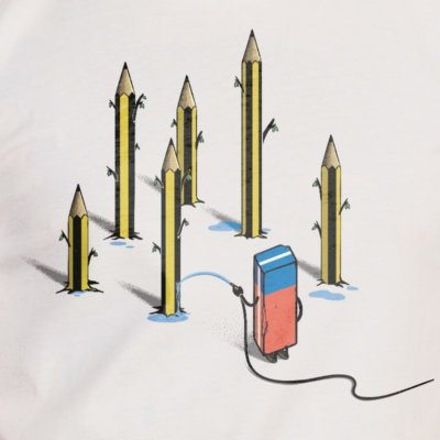 Robert Richter Pencil Culture vintage white