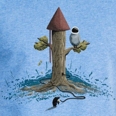 Robert Richter Rocket Tree mid heather blue