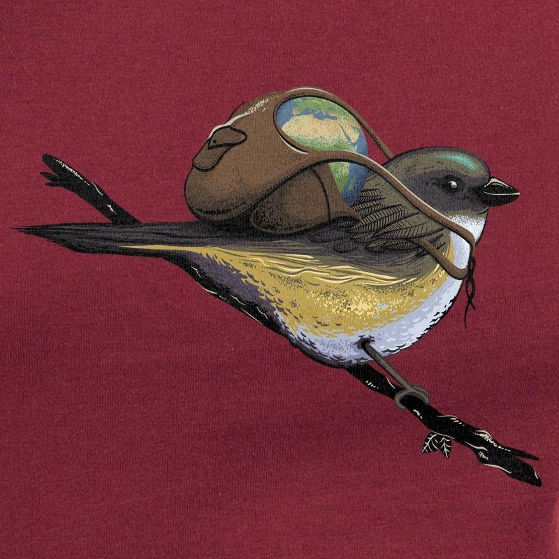 Robert Richter Save the Planet Bird burgundy