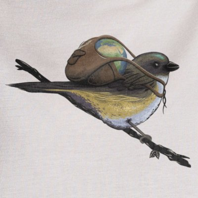 Robert Richter Save the Planet Bird grey violet