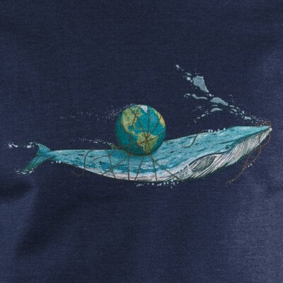 Robert Richter Save the Planet Whale melange navy
