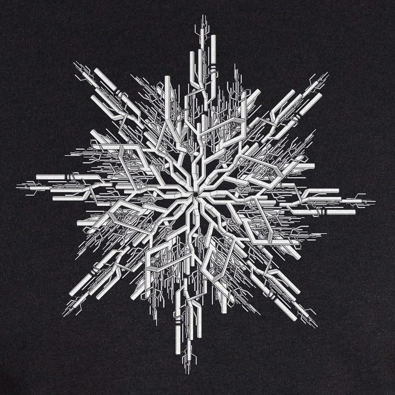 ruestungsschmie.de Snowflake white on black