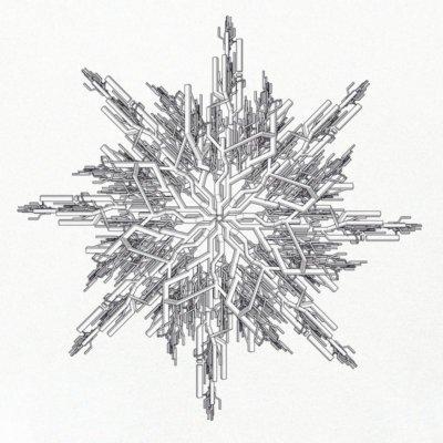 ruestungsschmie.de Snowflake black on white