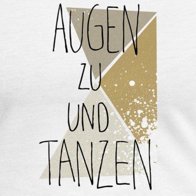 Miss Fivepiece Augen zu und Tanzen gold beige on white