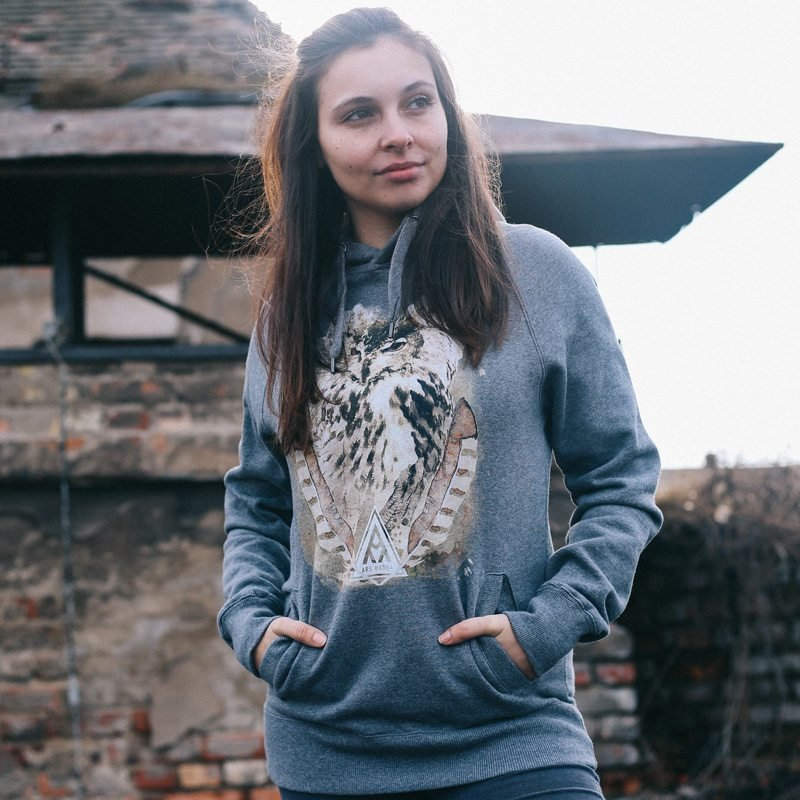 Ars Magna Ancient Owl Ladies Hooded Sweatshirt Vivien