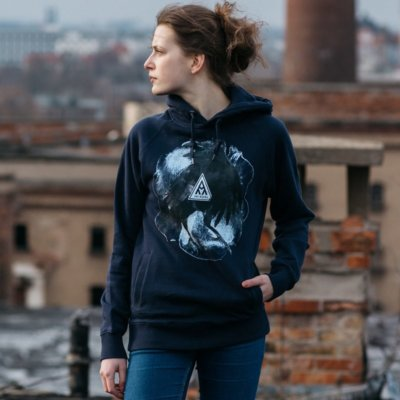 Ars Magna Crow Ladies Hooded Sweatshirt navy Lisa-Marie