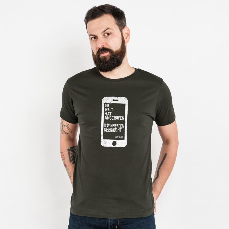 Lukas Adolphi Die Welt hat angerufen Classic Cotton T-Shirt