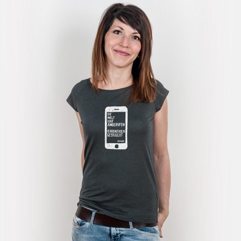 Lukas Adolphi Die Welt hat angerufen Ladies Organic Bamboo T-Shirt