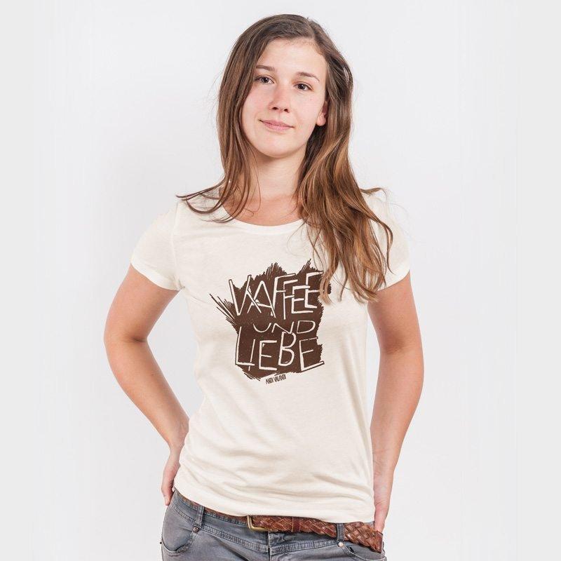 Lukas Adolphi Kaffee und Liebe Ladies Organic Round Neck T-Shirt