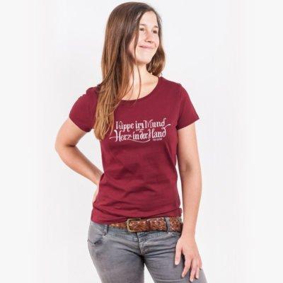 Lukas Adolphi Kippe im Mund Ladies Organic Round Neck T-Shirt