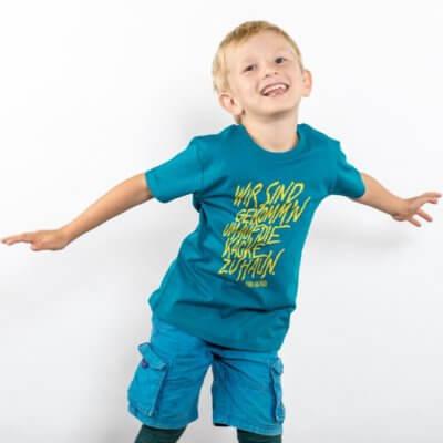 Lukas Adolphi Auf die Kacke hauen Boys Organic Cotton T-Shirt
