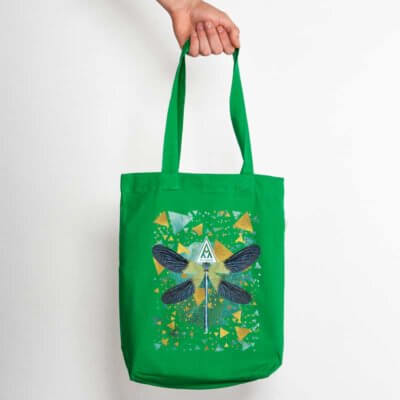 Ars Magna Emerald Dragonfly Organic Low Carbon Fashion Bag