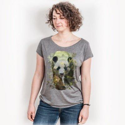 Ars Magna Panda Ladies Organic Modal T-Shirt