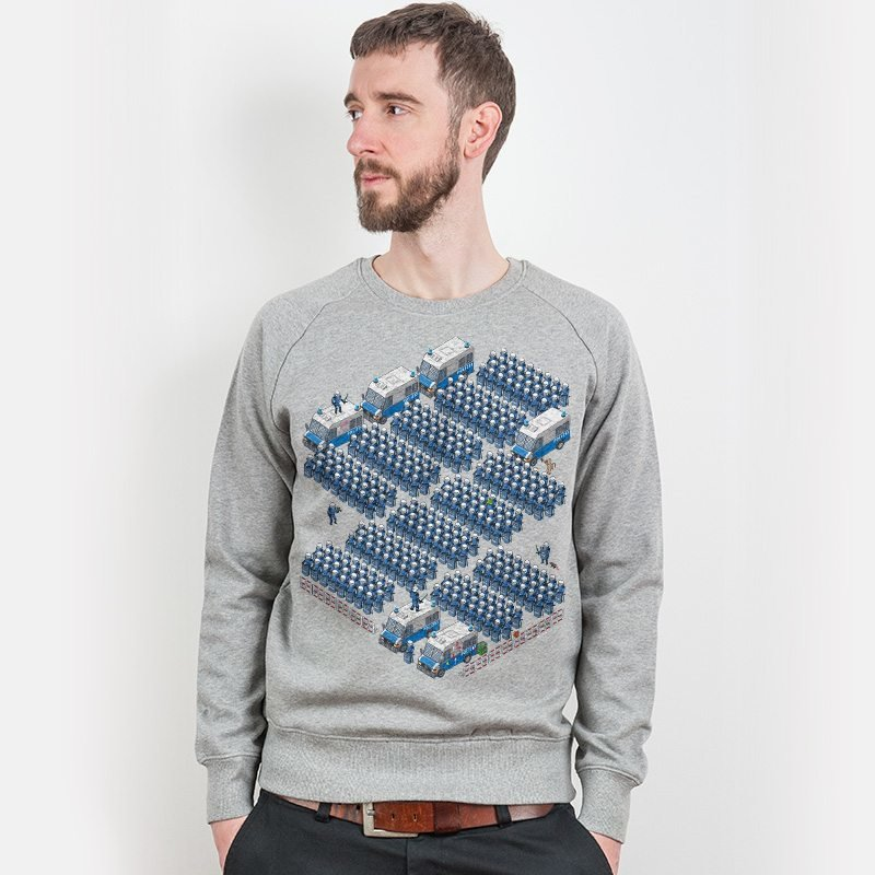 Bildbauer Polizei Mens Organic Cotton Sweatshirt