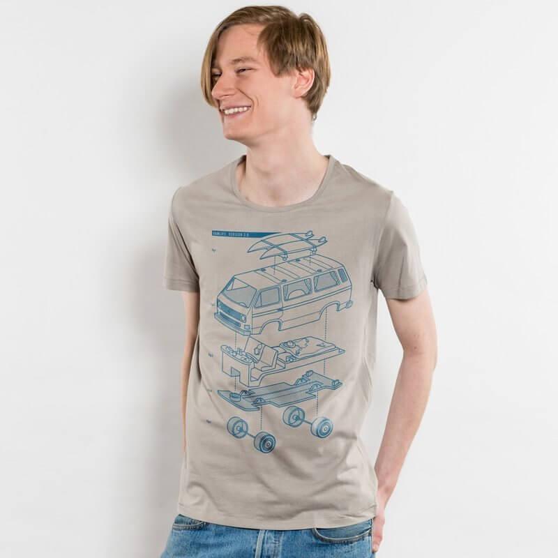 Julius Muschalek Vanlife Mens Organic Scoop Neck T-Shirt
