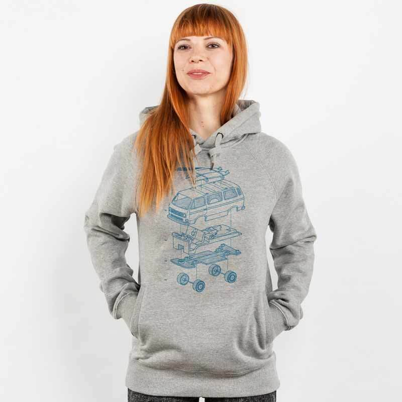 Julius Muschalek Vanlife Ladies Hooded Sweatshirt