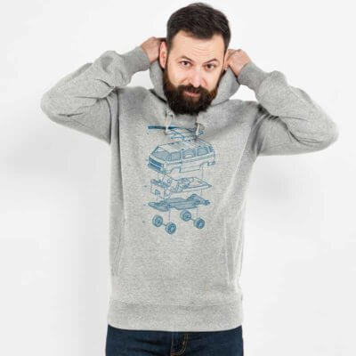 Julius Muschalek Vanlife Mens Hooded Sweatshirt