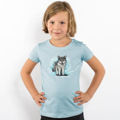Julius Muschalek Wolf Girls Organic Cotton T-Shirt