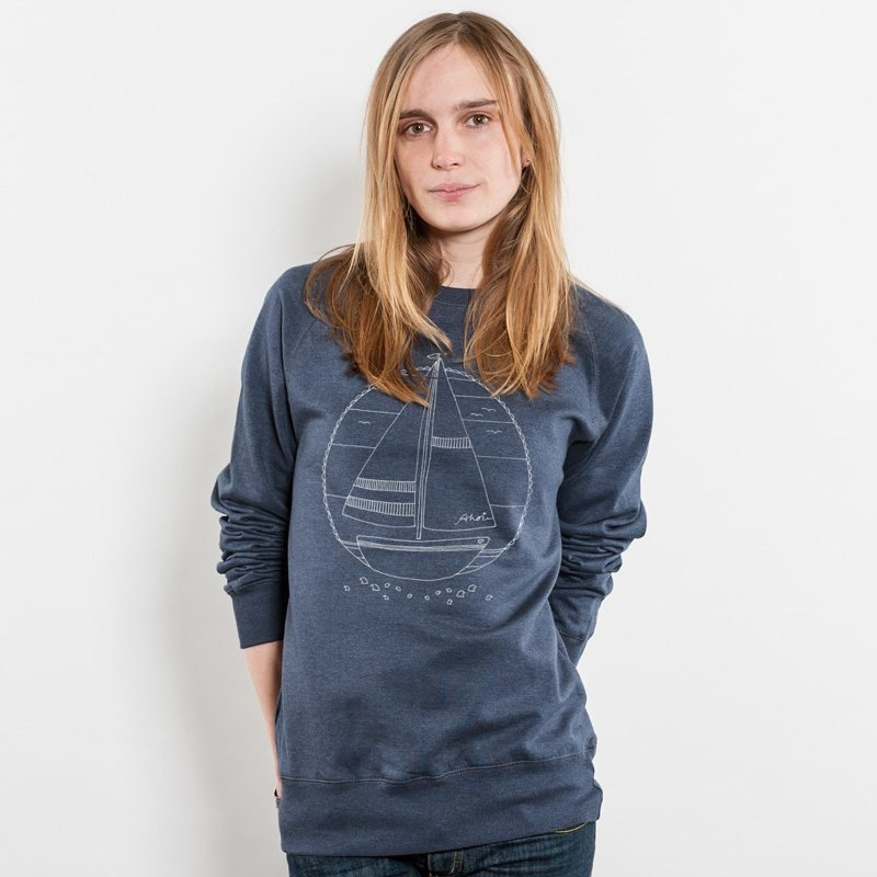 Keregan Ahoi Schiffchen Ladies Recycled Organic Sweatshirt