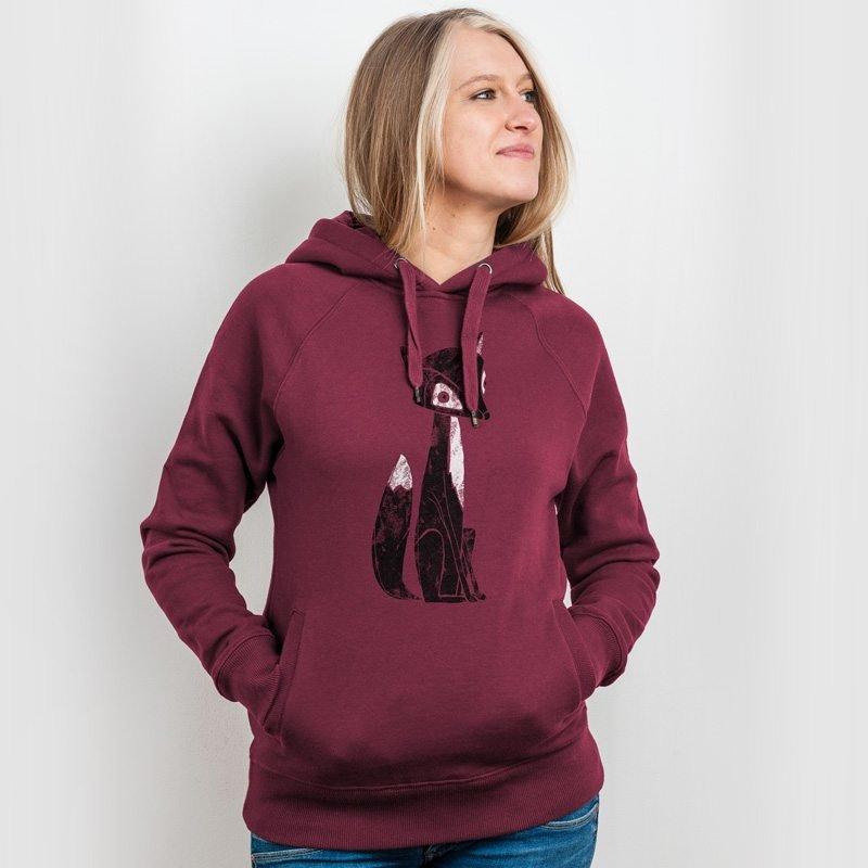 Keregan Lovely Fox Ladies Hooded Sweatshirt