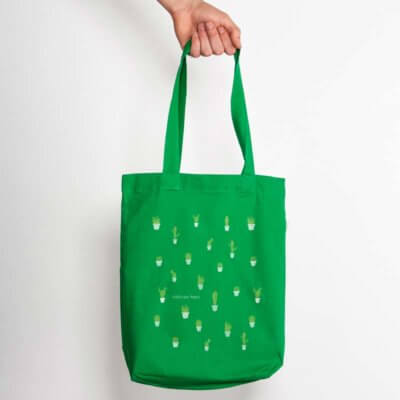 Keregan Kaktus Organic Low Carbon Fashion Bag - kelly green