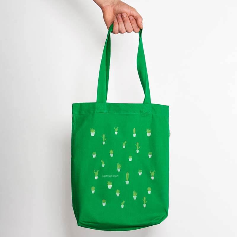 Keregan Kaktus Organic Low Carbon Fashion Bag - kelly green