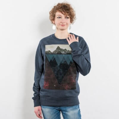 Kopfstein Feuer Ladies Recycled Organic Sweatshirt