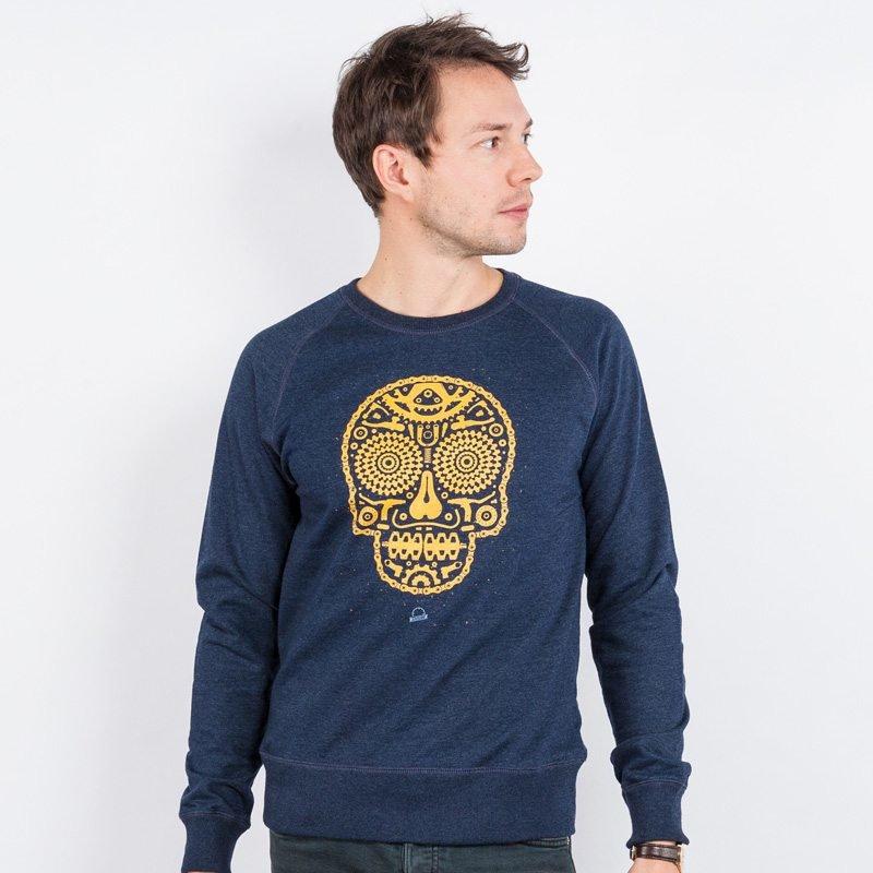 Douze Bikeskull Mens Recycled Organic Sweatshirt