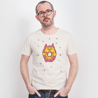 Pencake Donut Cat Mens Classic Cotton T-Shirt
